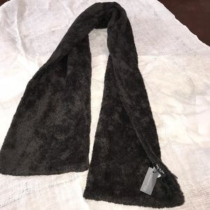 Kenneth Cole fake fur scarf one size brown
